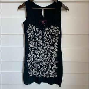 (NWOT) Johnny Was / Black Embroidered Tunic